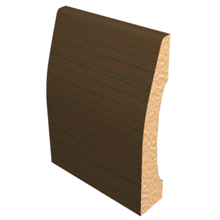 Laminated Baseboard Walnut #3386